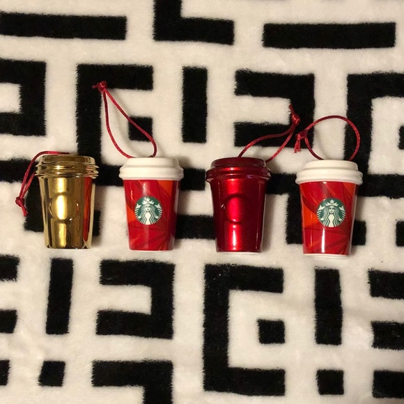 Starbucks Christmas tree ornaments